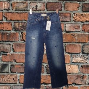 Madewell Rivet and Thread Crop Jeans NWT
